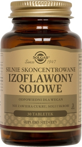 SOLGAR Izoflawony sojowe skoncen.30 tabl.