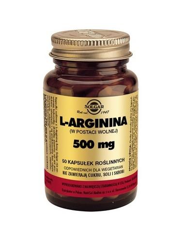 SOLGAR L-Arginina kaps. 0,5 g 50 kaps.