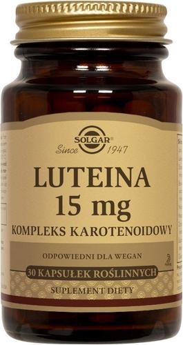 SOLGAR Luteina 15 mg komp.karotenoidow 30k | Apteka internetowa, antyperspirant, avent, bioderma, bioliq, canpol, cera trądzikowa preparaty, dermokosmetyki, geriavit, grzybica leki bez recepty, himalaya, kreon, leki bez recepty, leki na grypę, leki na przeziębienie, leki na uspokojenie, mascara med., maxigra go, maxon, mensil, mugga, mustela, odchudzanie leki, odporność, pirolam, tabletki na ból gardła, test ciążowy, tran mollers, vichy, witamina d, wszy preparaty, zapalenie stawów, zestawy kosmetyków, ziaja