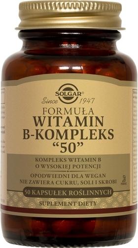 SOLGAR Witamina B-kompleks kaps. 50kaps.