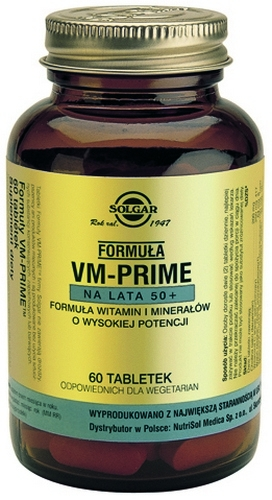 SOLGAR Formuła VM-Prime na lata 50+ 60tab