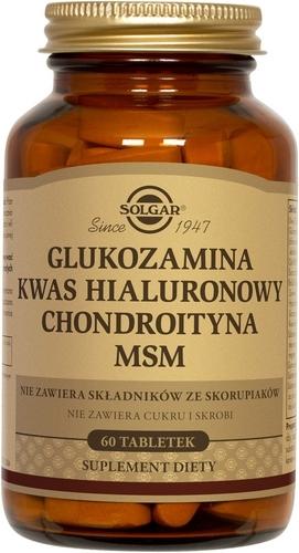 SOLGAR Glukozamina Kw.Hialuron.Chondr.60ta