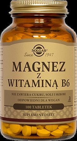SOLGAR Magnez z witaminą B6 tabl. 100tabl. | Apteka internetowa, antyperspirant, avent, bioderma, bioliq, canpol, cera trądzikowa preparaty, dermokosmetyki, geriavit, grzybica leki bez recepty, himalaya, kreon, leki bez recepty, leki na grypę, leki na przeziębienie, leki na uspokojenie, mascara med., maxigra go, maxon, mensil, mugga, mustela, odchudzanie leki, odporność, pirolam, tabletki na ból gardła, test ciążowy, tran mollers, vichy, witamina d, wszy preparaty, zapalenie stawów, zestawy kosmetyków, ziaja