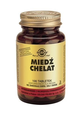 SOLGAR Miedź tabl. 2,5 mg 100 tabl.