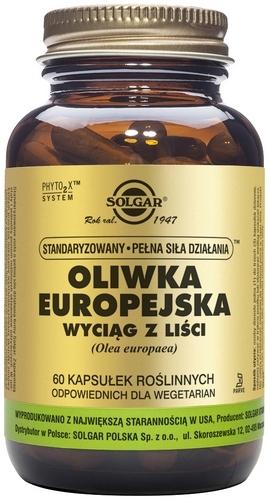 SOLGAR Oliwka Europ.wyciąg z liści 60 kaps