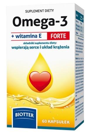 Omega-3 +wit.E Forte BIOTTER kaps. 60kaps.