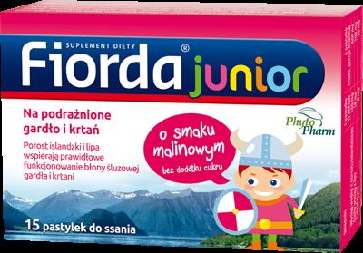 Fiorda Junior o smaku malinowym 15 past. | Apteka internetowa, antyperspirant, avent, bioderma, bioliq, canpol, cera trądzikowa preparaty, dermokosmetyki, geriavit, grzybica leki bez recepty, himalaya, kreon, leki bez recepty, leki na grypę, leki na przeziębienie, leki na uspokojenie, mascara med., maxigra go, maxon, mensil, mugga, mustela, odchudzanie leki, odporność, pirolam, tabletki na ból gardła, test ciążowy, tran mollers, vichy, witamina d, wszy preparaty, zapalenie stawów, zestawy kosmetyków, ziaja