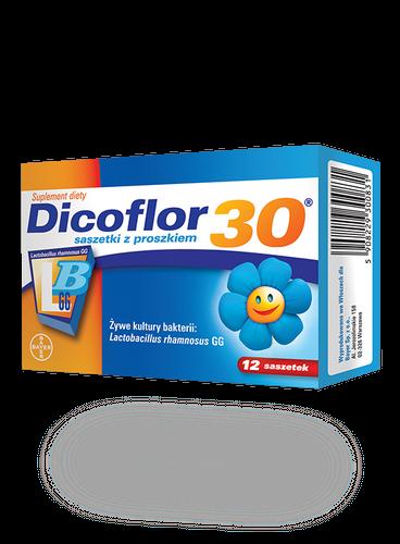 Dicoflor 30 d/niemowląt i dzieci 12 sasz.