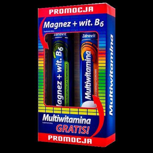 ZDROVIT Magnez  B6 24tabl.+multivit.gratis | Apteka internetowa, antyperspirant, avent, bioderma, bioliq, canpol, cera trądzikowa preparaty, dermokosmetyki, geriavit, grzybica leki bez recepty, himalaya, kreon, leki bez recepty, leki na grypę, leki na przeziębienie, leki na uspokojenie, mascara med., maxigra go, maxon, mensil, mugga, mustela, odchudzanie leki, odporność, pirolam, tabletki na ból gardła, test ciążowy, tran mollers, vichy, witamina d, wszy preparaty, zapalenie stawów, zestawy kosmetyków, ziaja