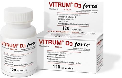 Vitrum D3 Forte kaps. 0,05 mg 120 kaps.