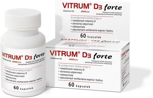 Vitrum D3 Forte kaps. 0,05 mg 60 kaps.