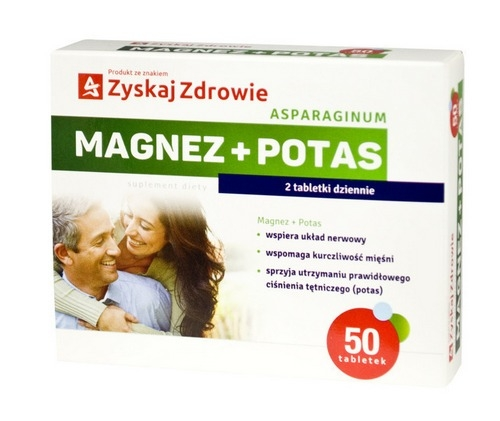 Asparaginum Magnez + Potas tabl. 50tabl.