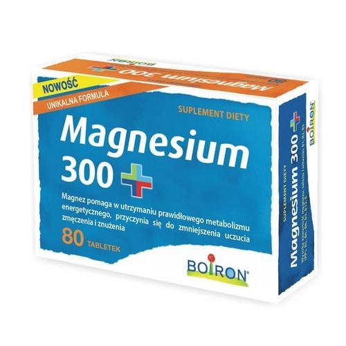 BOIRON Magnesium 300+ tabl. 0,5 g 80 tabl.