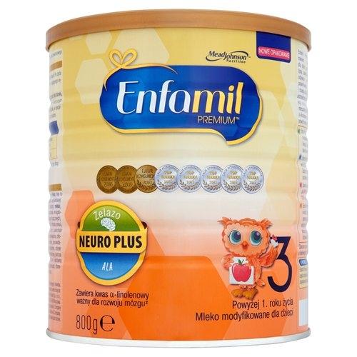 Mleko ENFAMIL 3 PREMIUM pow.1 roku 800 g