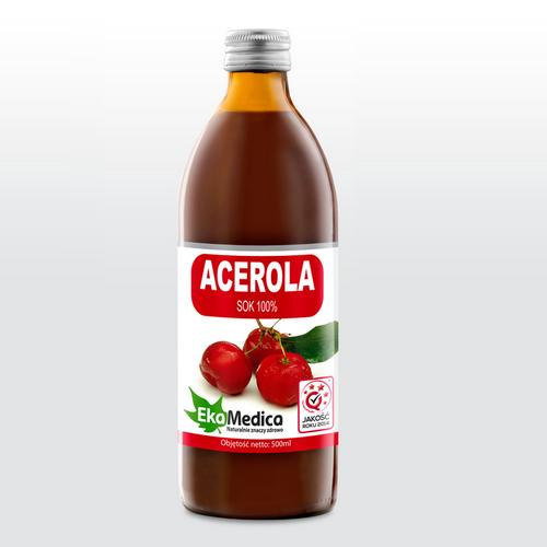 Acerola sok 100% EkaMedica 500 ml