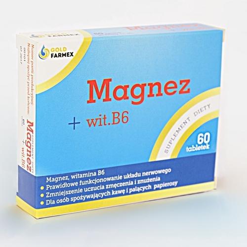 Magnez+wit.B6 tabl. 0,1 g 60 tabl.Goldfarm
