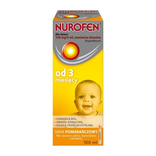 Nurofen d/dzieci zaw.pomar.0.1g/5ml 100 ml