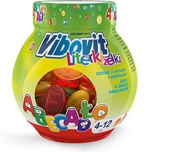 Vibovit Literki Żelki smak owocowy 50 szt.