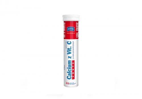 Calcium z Vit. C Forte 20 tabl.mus.BIOTTER