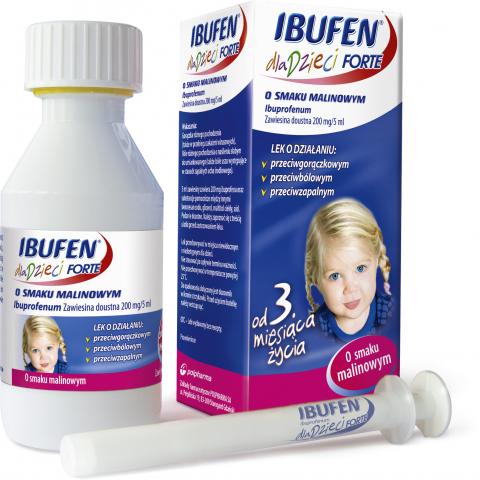 Ibufen d/dzieci Forte o sm.malinowym 100ml