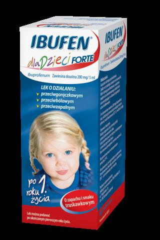 Ibufen d/dzieci Forte sm.truskawka 100 ml