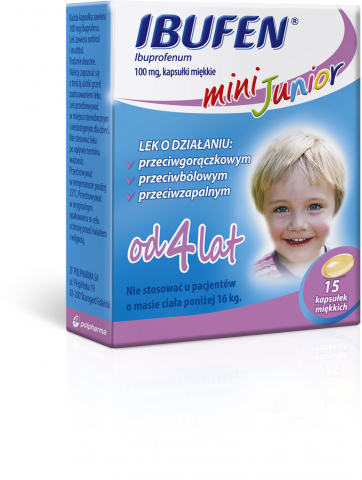 Ibufen Mini Junior 100mg 15 kaps