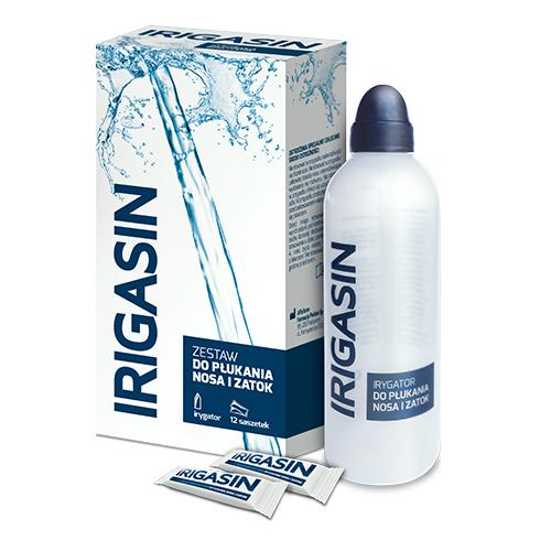 IRIGASIN Zestaw (saszetki 12szt.+butelka)