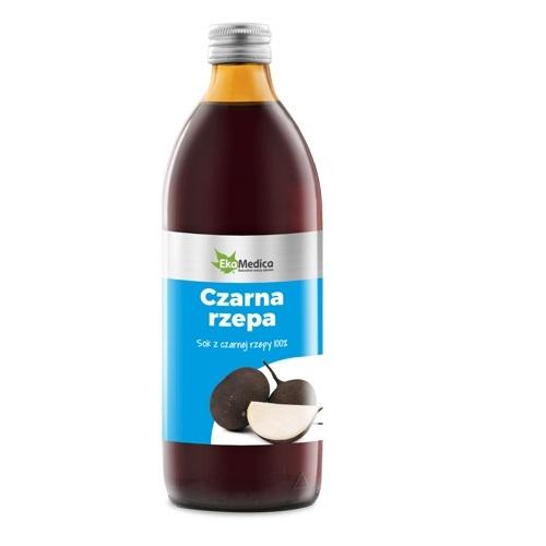 EkaMedica Czarna Rzepa Sok 100% 500 ml