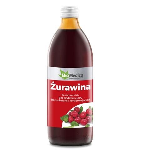 EkaMedica Żurawina Sok 100% 500 ml