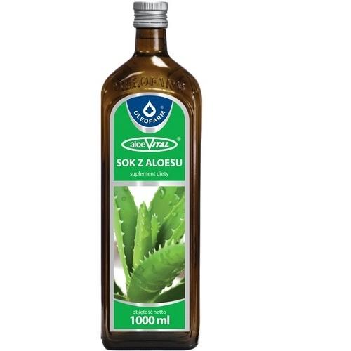 Aloes Sok z aloesu z miąż. 1 litr Oleofarm