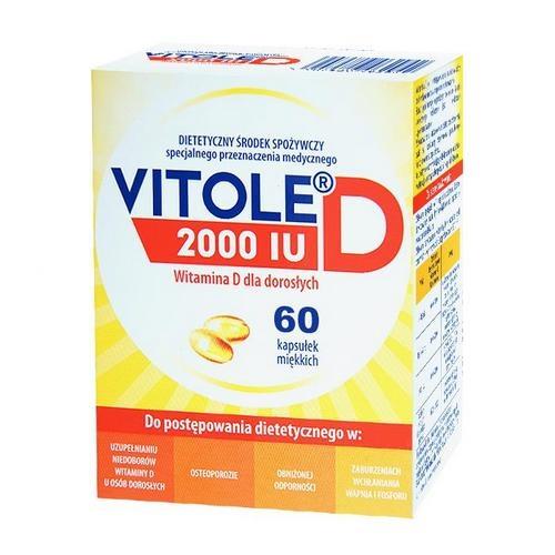 Vitole D 2000 IU kaps.miękkie 60 kaps.