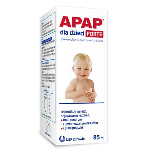 Apap dla dzieci Forte zaw.doust.85 ml