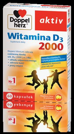 Doppelherz aktiv Witamina D3 2000 60 kaps.