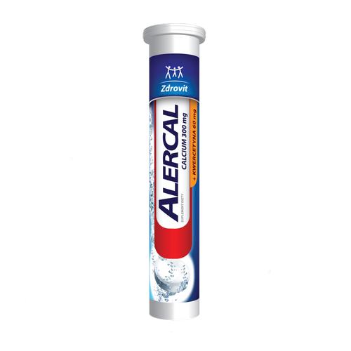 Zdrovit Alercal Calcium+Kwerc.20 tab.mus.