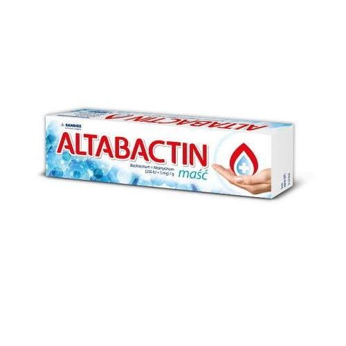 Altabactin maść (250j.m.+5mg)/g 20 g | Apteka internetowa, antyperspirant, avent, bioderma, bioliq, canpol, cera trądzikowa preparaty, dermokosmetyki, geriavit, grzybica leki bez recepty, himalaya, kreon, leki bez recepty, leki na grypę, leki na przeziębienie, leki na uspokojenie, mascara med., maxigra go, maxon, mensil, mugga, mustela, odchudzanie leki, odporność, pirolam, tabletki na ból gardła, test ciążowy, tran mollers, vichy, witamina d, wszy preparaty, zapalenie stawów, zestawy kosmetyków, ziaja