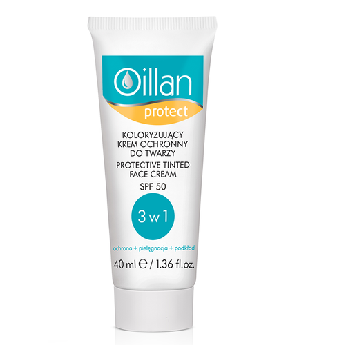 Oillan protect kolor.Krem och SP50 40ml