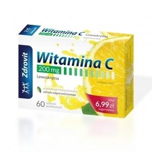 Witamina C 200 mg Zdrovit tabl.powl. 60tab
