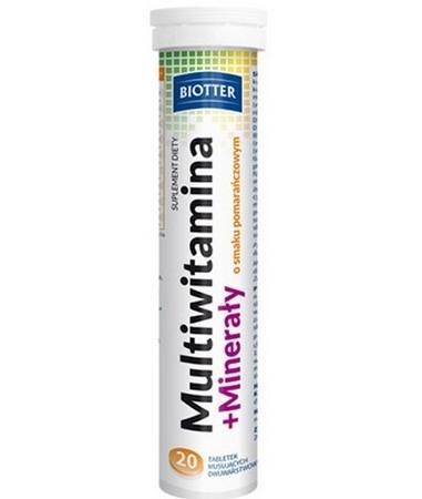 Multiwitamina+minerały BIOTTER 20 tab.mus.
