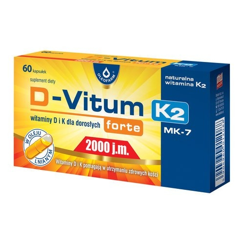 D-Vitum forte 2000 j.m. K2 kaps. 60kaps.
