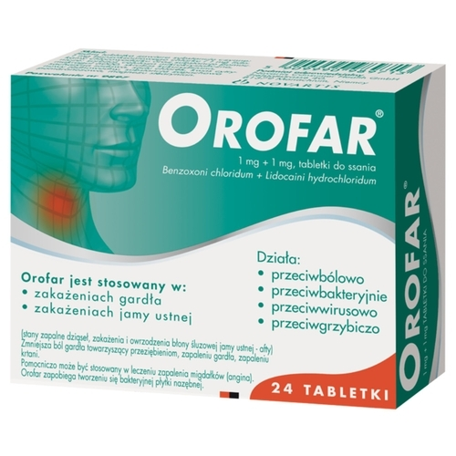 Orofar tabl.do ssania 1mg+1mg 24 tabl.