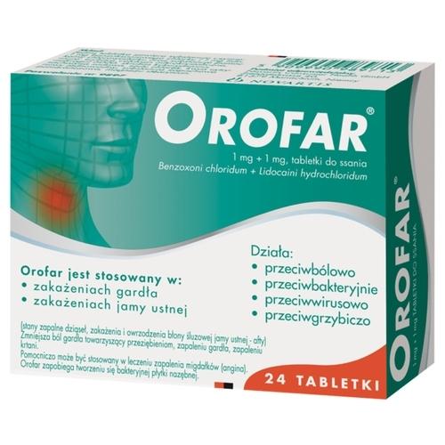 Orofar tabl.do ssania 1mg+1mg 24 tabl.