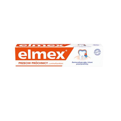 Pasta d/zęb.ELMEX  Standard p/próchn. 75ml | Apteka internetowa, antyperspirant, avent, bioderma, bioliq, canpol, cera trądzikowa preparaty, dermokosmetyki, geriavit, grzybica leki bez recepty, himalaya, kreon, leki bez recepty, leki na grypę, leki na przeziębienie, leki na uspokojenie, mascara med., maxigra go, maxon, mensil, mugga, mustela, odchudzanie leki, odporność, pirolam, tabletki na ból gardła, test ciążowy, tran mollers, vichy, witamina d, wszy preparaty, zapalenie stawów, zestawy kosmetyków, ziaja