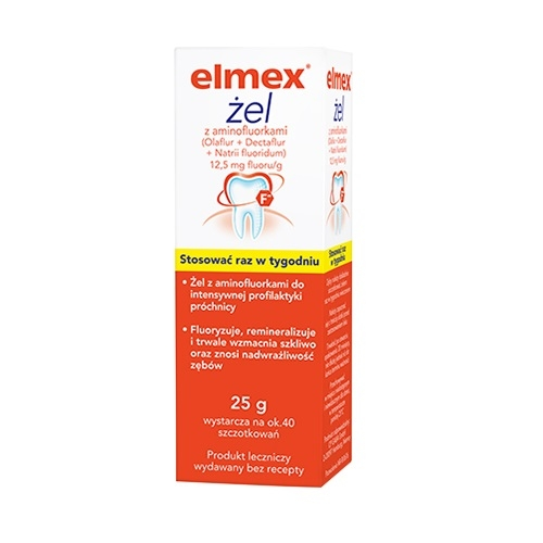 ELMEX żel do zęb. 0,0125 g/1g 25 g