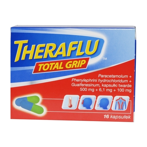 Theraflu Total Grip kaps.twarde 16 kaps.