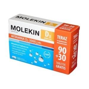 Molekin D3 2 000 j.m. 90+30 tabl.