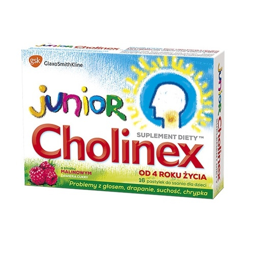 Cholinex Junior pastyl.dossan. 16pastyl.