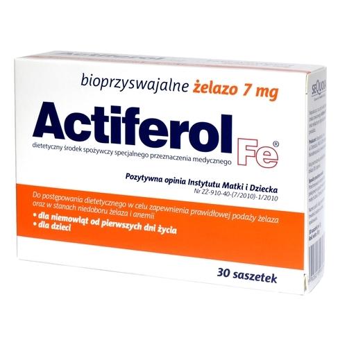 Actiferol Fe 7 mg saszet. 7 mg 30 sasz.