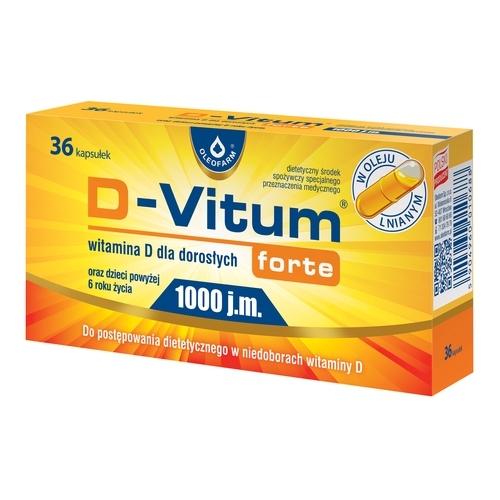 D-Vitum Forte Wit.D 1000 j.m d/dor.36 kap.