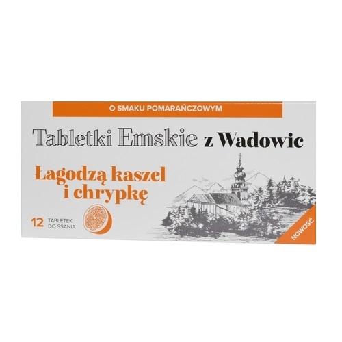 Tabletki Emskie z Wadowic sm.pomar.12 tabl