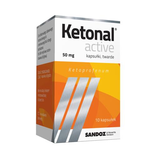 Ketonal Active kaps.twarde 0,05 g 10 kaps.